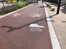 Reclame op het fietspad? Illegaal, zegt gemeente Eindhoven