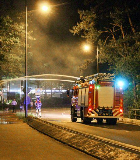 Stuk bos vliegt midden in de nacht in brand bij Stichtse Rotonde