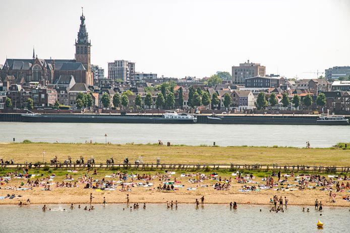 Een zomerse dag in Nijmegen.