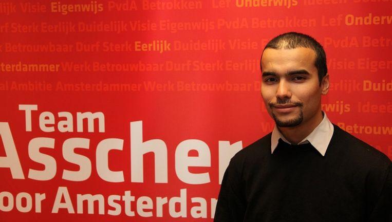 Mohamed Aadroun, die op nummer 18 van de lijst stond, kreeg 2792 stemmen, meer dan voldoende om in de raad te komen. Foto Het Parool Beeld