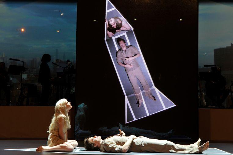 ''Lazarus' (hier in het Londense King's Cross Theatre, eind 2016) was hors concours.Ik ga daar nieuwe projecten niet aan afmeten.' Beeld Corbis via Getty Images