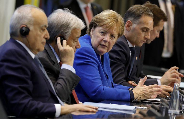 De Duitse bondskanselier Angela Merkel was voorzitter van de top. Beeld EPA