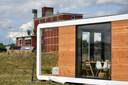 Een tiny house in Hengelo (Ov.).