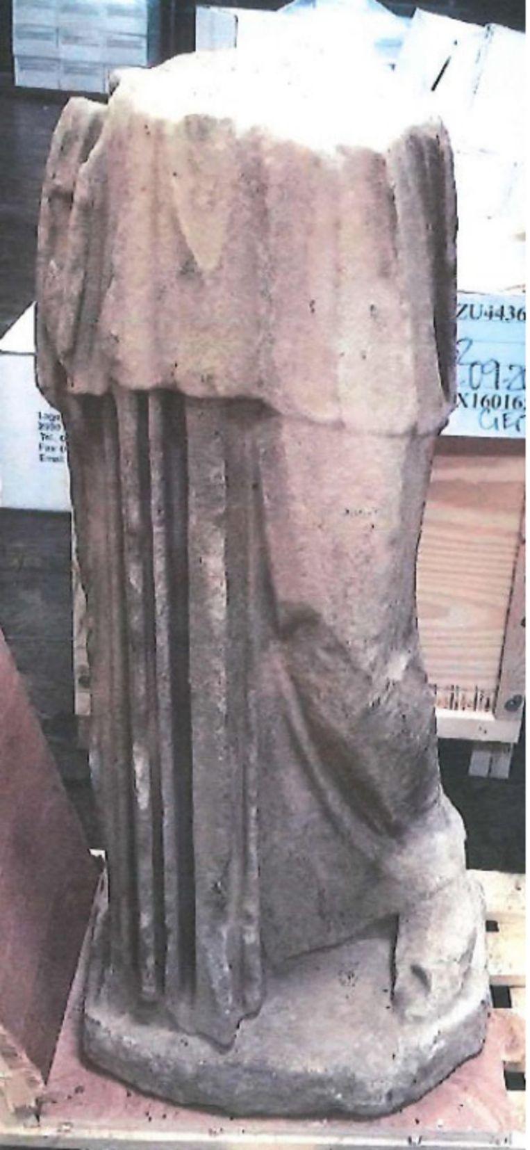 Deel van het beeld 'Samian Athena'. Beeld RV