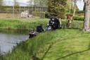 Hulpdiensten komen voor gewonde man bij Sprang-Capelle.