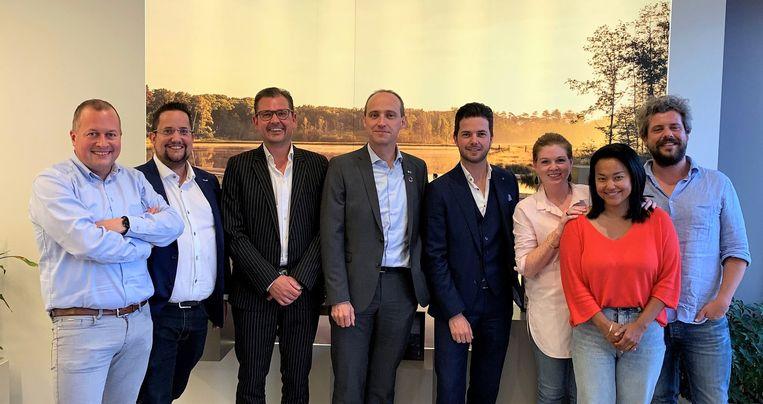 Burgemeester Wim Dries met de leden van UNIZO Genk eerder dit jaar.