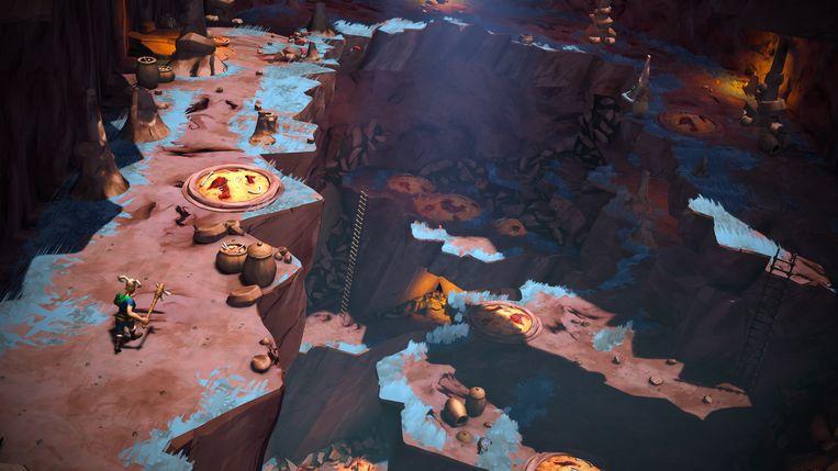 De decorbouwers zijn in God Will Fall helemaal uit hun dak gegaan. De speler gaat dus vaak dood op prachtige plekken. Een schrale troost. Beeld CleverBeans