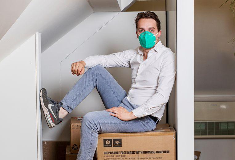 Sywert van Lienden blijkt nu 9 miljoen euro aan de mondkapjeshandel over te hebben gehouden. Beeld Guido Benschop/De Beeldunie