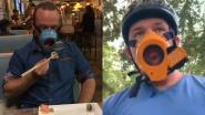 Met dit mondmasker kan je makkelijk eten en drinken