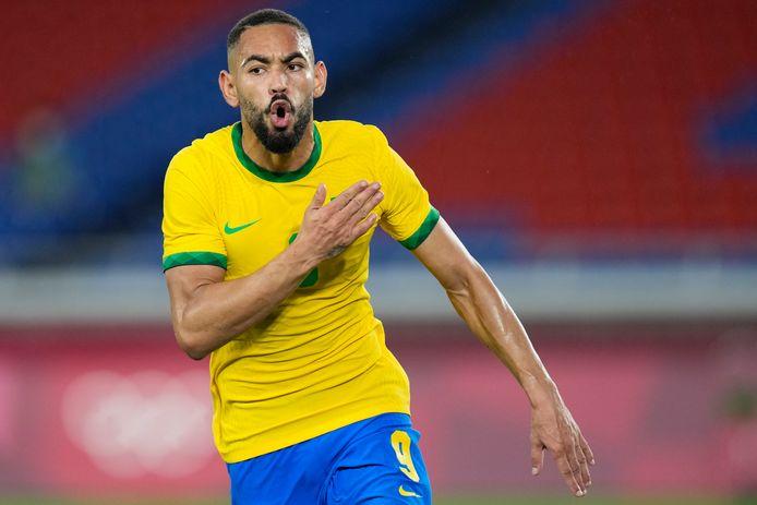 Matheus Cunha bracht Brazilië op voorsprong.