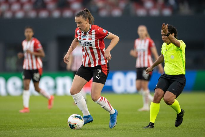 Romée Leuchter in de door PSV gewonnen bekerfinale.