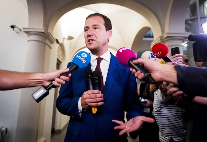 Lodewijk Asscher na afloop van het begrotingsoverleg vanavond