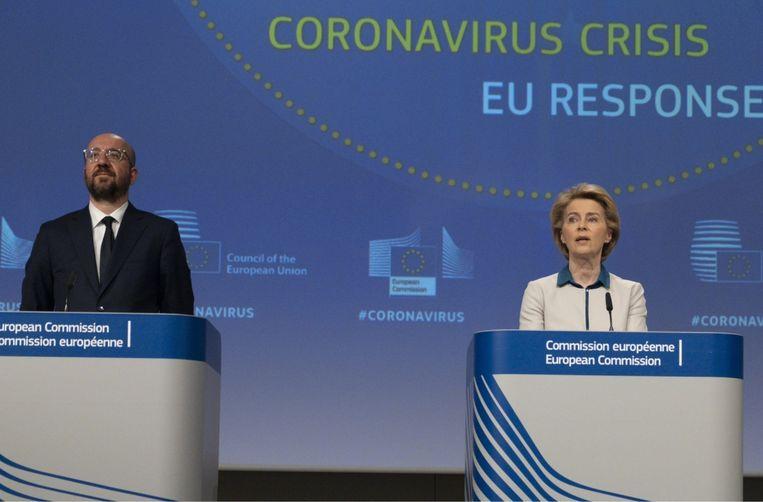 'Charles Michel zit in een moeilijke positie. Een Europese top via Zoom is geen sinecure: er staat buiten geen pers te wachten, waardoor er geen druk is om tot een compromis te komen.' Beeld