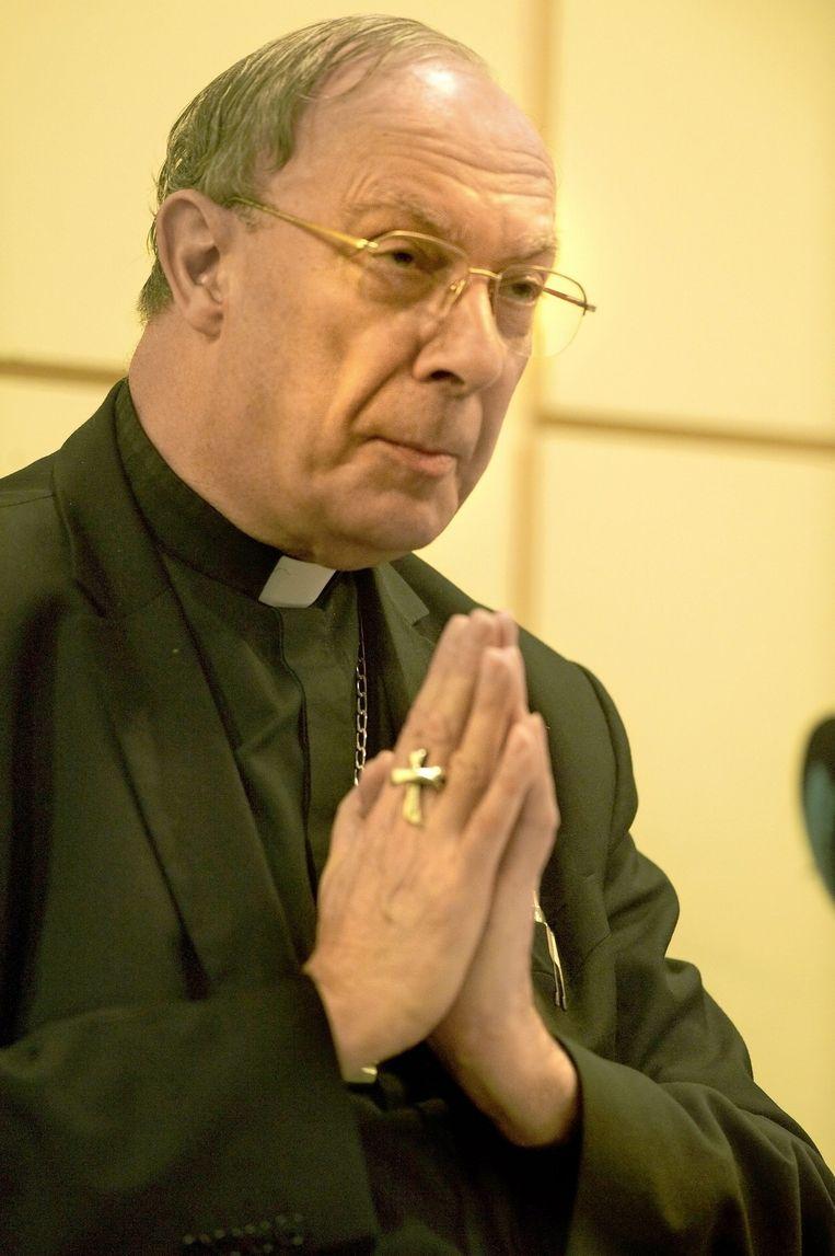 Kardinaal André Léonard. Beeld belga