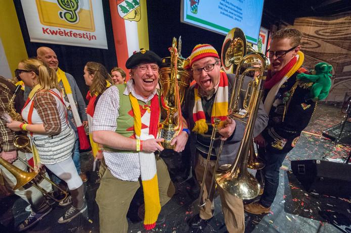 De Henkies, met de zangers Theo Burgerhof en Wim Brouwers wonnen het Kwèkfestijn in 2015.