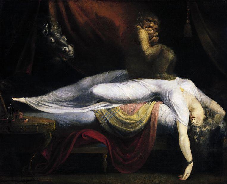Henry Fuseli:  De nachtmerrie (1781), olieverf op doek, Detroit Institute of Arts. Beeld Granger / F1online