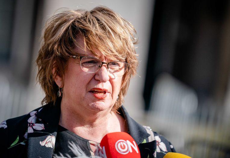 Informateur Mariette Hamer liet vrijdag in gesprek met de pers weten hoe ze het vervolg van de formatie van het nieuwe kabinet voor zich ziet.  Beeld ANP