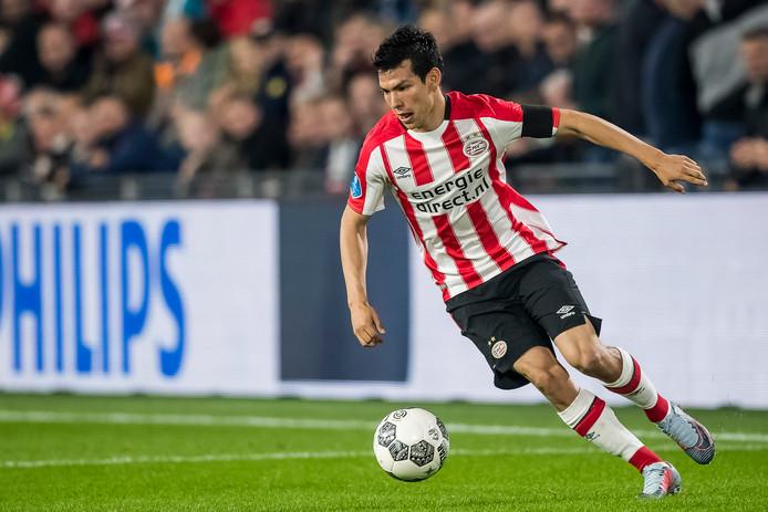 EINDHOVEN, PSV - Willem II 4-0, voetbal, Eredivisie, seizoen 2017-2018, 30-09-2017, Philips Stadion, PSV speler Hirving Lozano