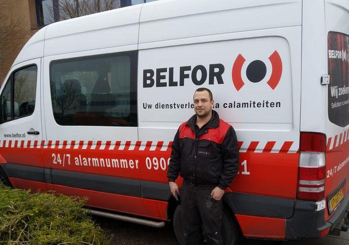 Chris Esser is al 7,5 jaar medewerker reconditionering bij BELFOR