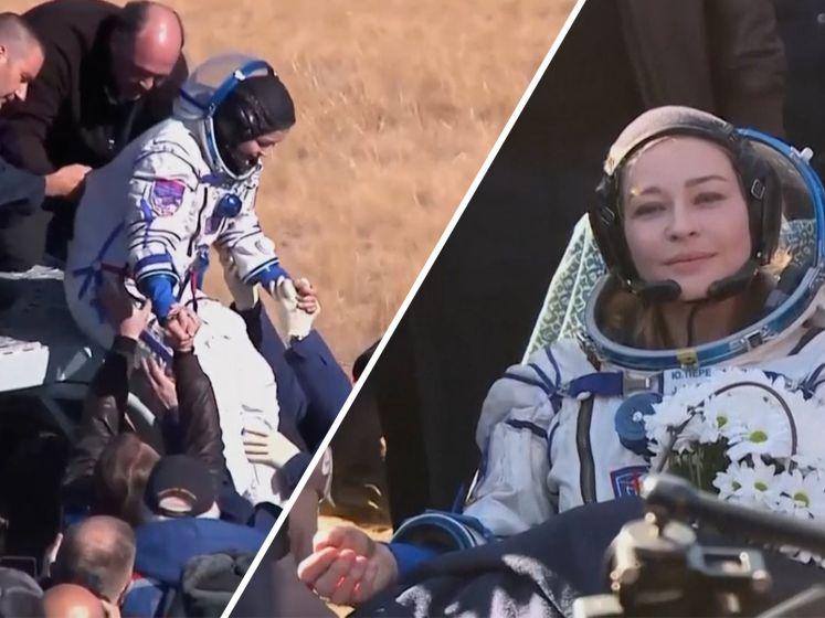Russische actrice keert na filmopnames terug op aarde
