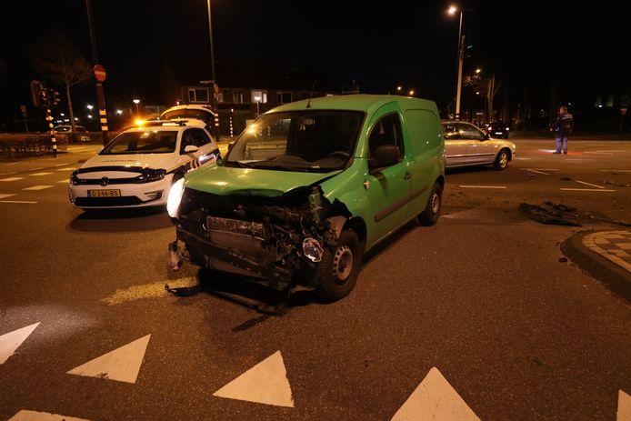 Ongeluk op de Noord-Brabantlaan in Eindhoven.