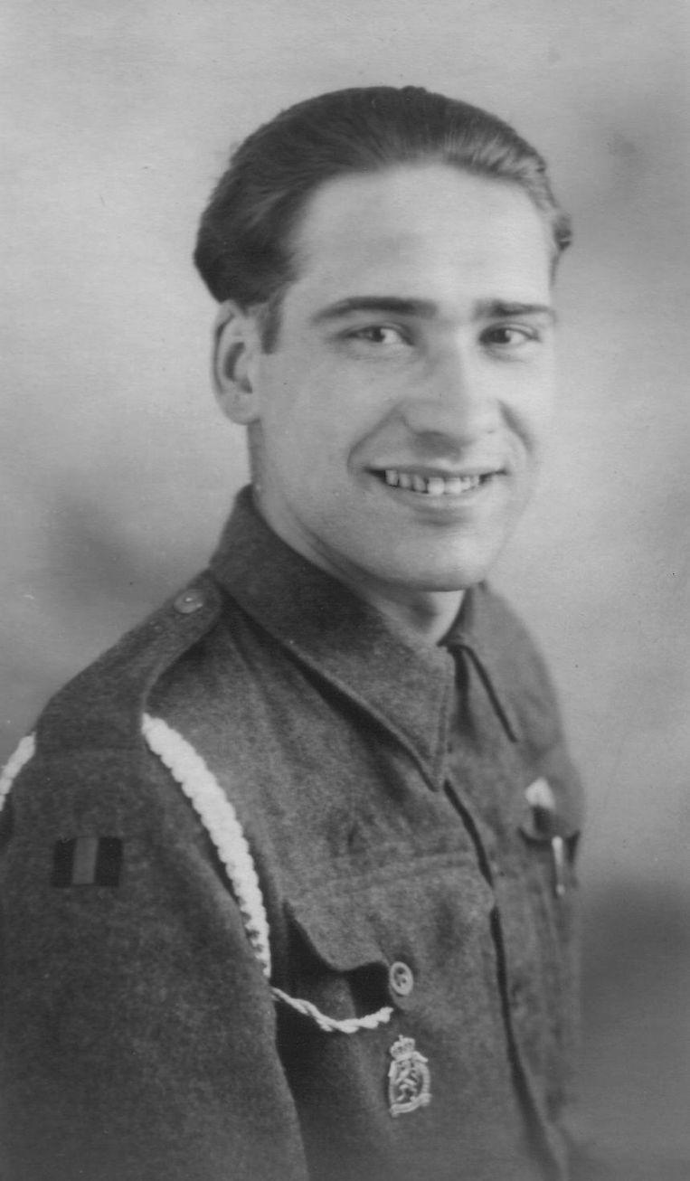Jean Martial in uniform tijdens de Tweede Wereldoorlog.  Beeld Jean-Louis Marichal