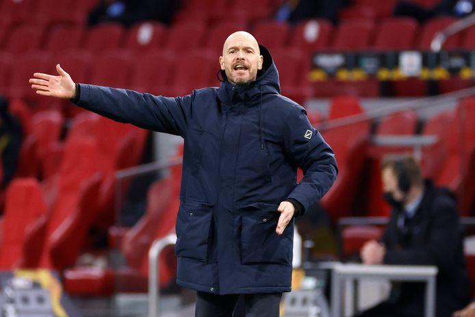 Erik ten Hag zag zijn ploeg onnodig met 1-2 verliezen.