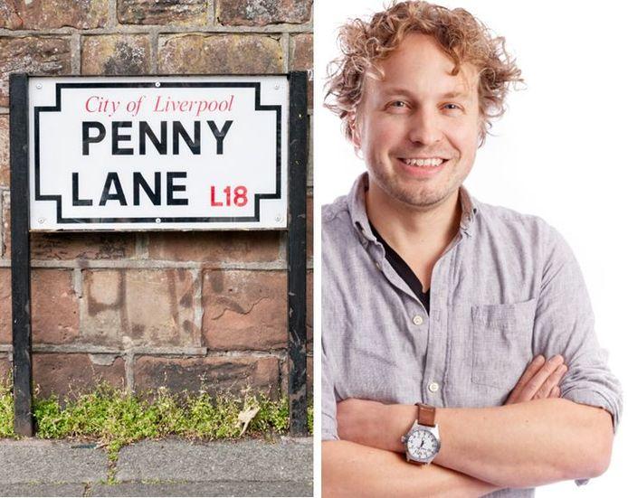 Penny Lane, straatnaambord zonder toelichting in Liverpool. Bij twijfel niet slopen, vindt columnist Niels Herijgens.