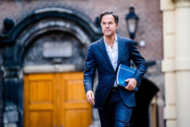Vanuit D66 klinkt de oproep aan Mark Rutte (VVD) om zich duidelijker uit te spreken over de formatie. Beeld ANP