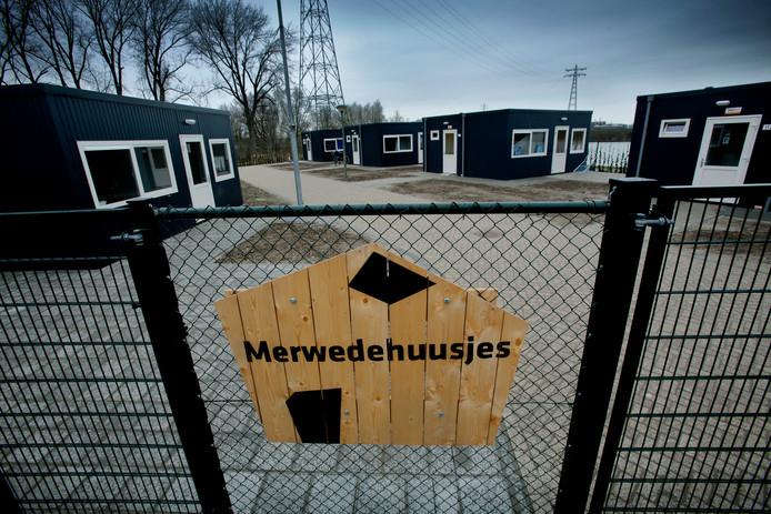 De Merwedehuusjes in Dordrecht staan er sinds 2018.