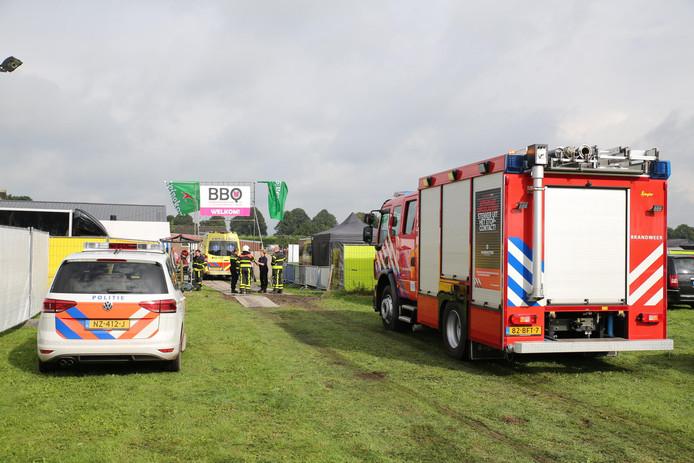 Hulpverleners spoedden zich naar de Vaartweg in Dongen.