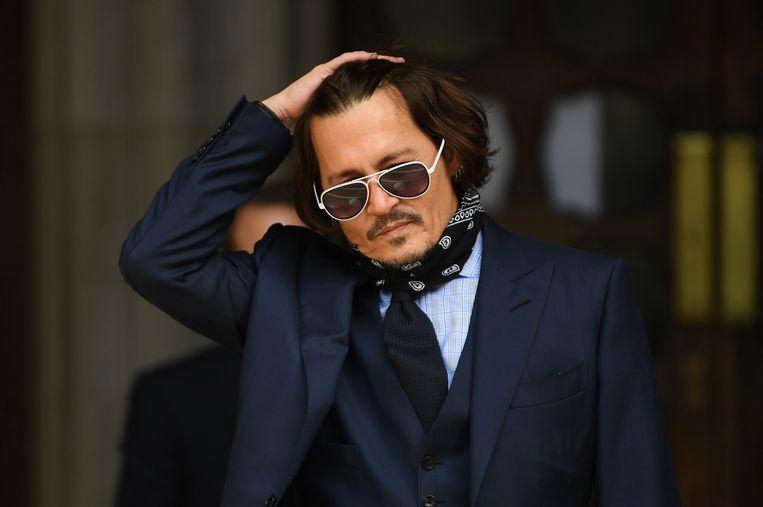De rechtbank oordeelde in het nadeel van Johnny Depp, die een zaak had aangespannen tegen 'The Sun'. Is zijn carrière nu echt in vrije val? Beeld EPA