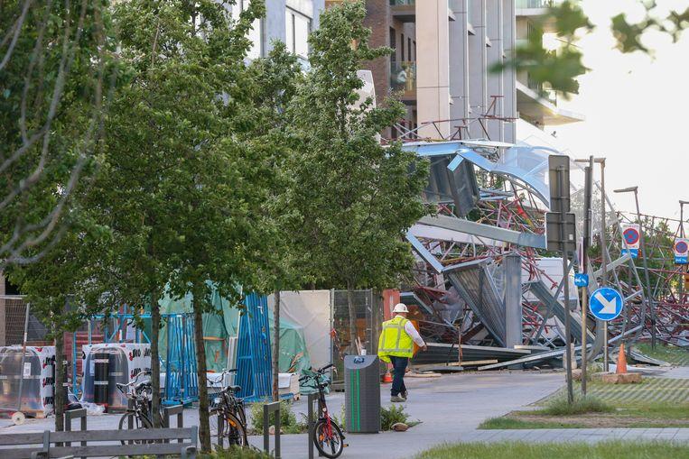 De ravaga aan de Jos Smolderenstraat in Antwerpen. Beeld BELGA