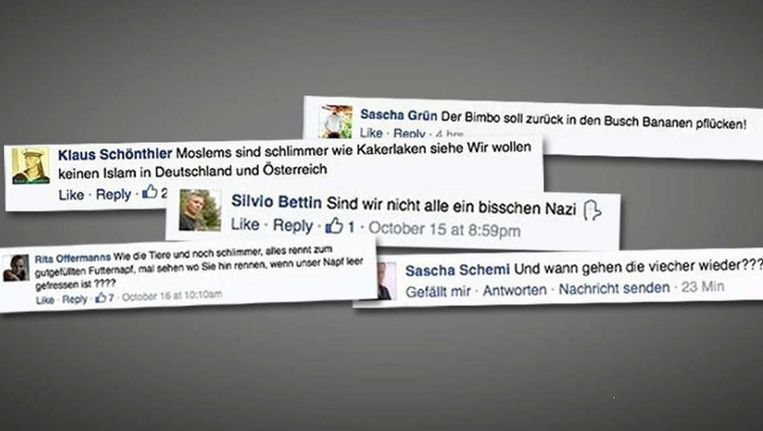 Bild publiceert haatdragende Facebookteksten in de krant en op de website. Beeld Bild