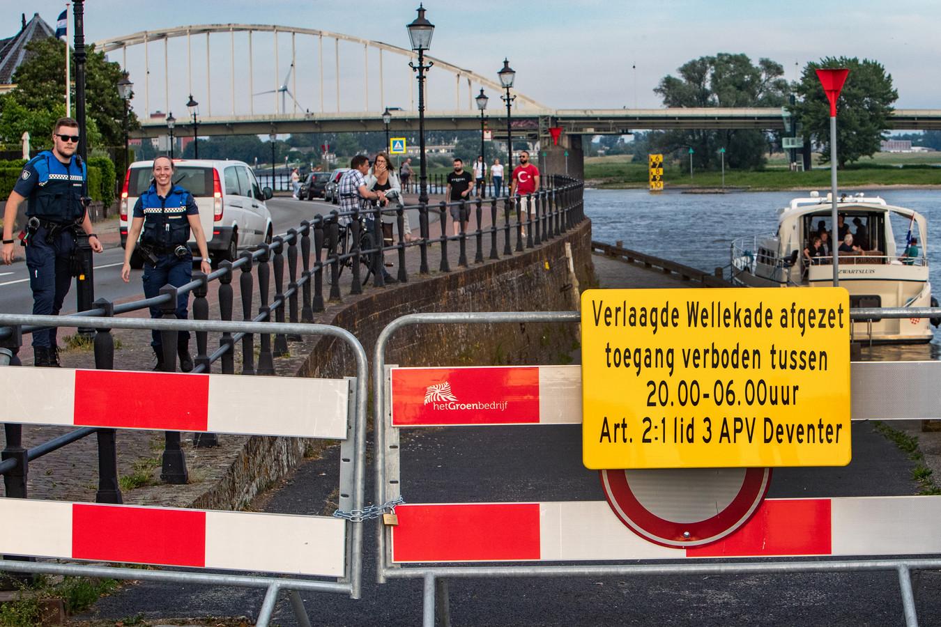 De tijdelijke afsluiting van het Verlaagde Wellepad in Deventer is voorbij.