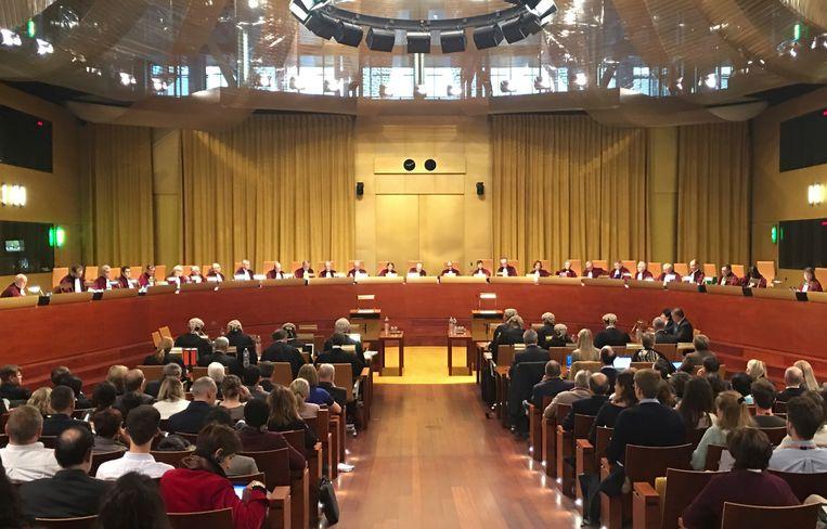 Archiefbeeld van een zitting van het Europees Hof van Justitie.