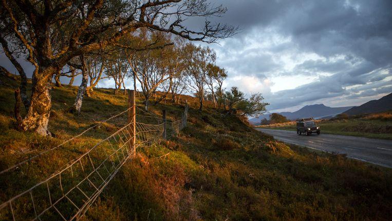 In de buurt van Ullapool op zoek naar een kampeerplek. In Schotland is dat alleen een kwestie van de weg af rijden en de tent opzetten. Beeld Julius Schrank