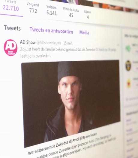 Twitter plat na overlijden Avicii