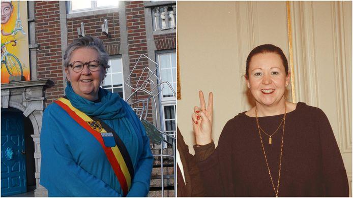 Ria Beeusaert-Pattyn in 2021 en in 2001.