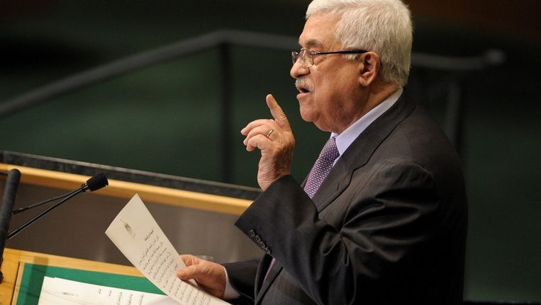 Abbas, vandaag in New York. Beeld epa