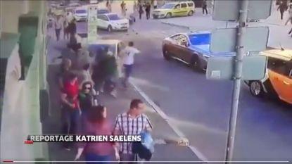 Taxi rijdt voetgangers aan in Moskou