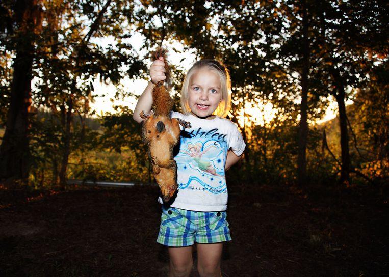 De opening van het eekhoornjachtseizoen in Louisiana (VS). Beeld Isabella Rozendaal