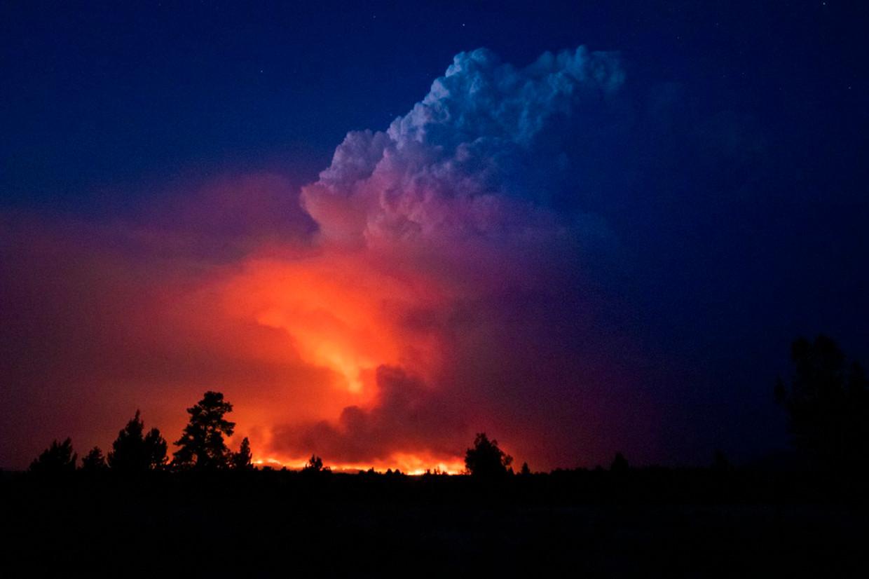 Onder meer het Amerikaanse Oregon wordt momenteel geteisterd door zware bosbranden.