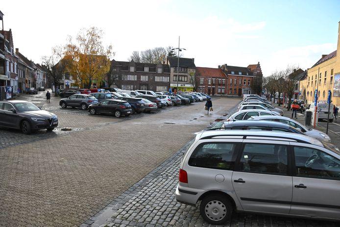 De Steenakker in Wervik is de grootste centrumparking.