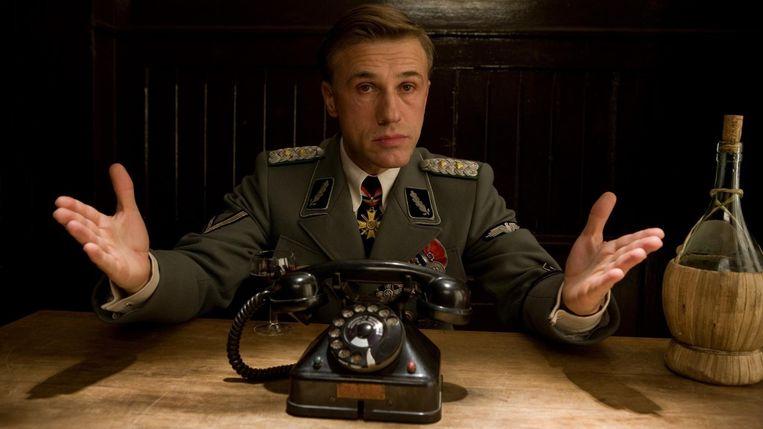 Christoph Waltz in Inglourious Basterds van Quentin Tarantino Beeld