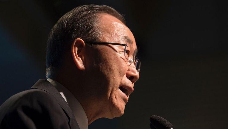 De voormalig secretaris-generaal van de VN Ban Ki-moon zegt dat hij absoluut geen weet had van de zaak rond zijn broer Ban Ki-sang. Beeld afp