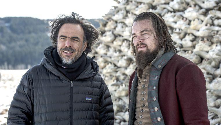 Leonardo dicaprio en Alejandro González Iñárritu Beeld © 2015 Twentieth Century Fox Film Corporation. All rights reserved.