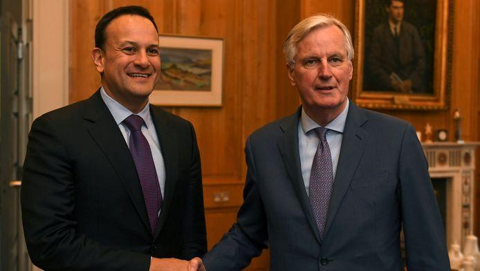 Le premier irlandais, Leo Varadkar, et le chef du Brexit pour l'UE, Michel Barnier