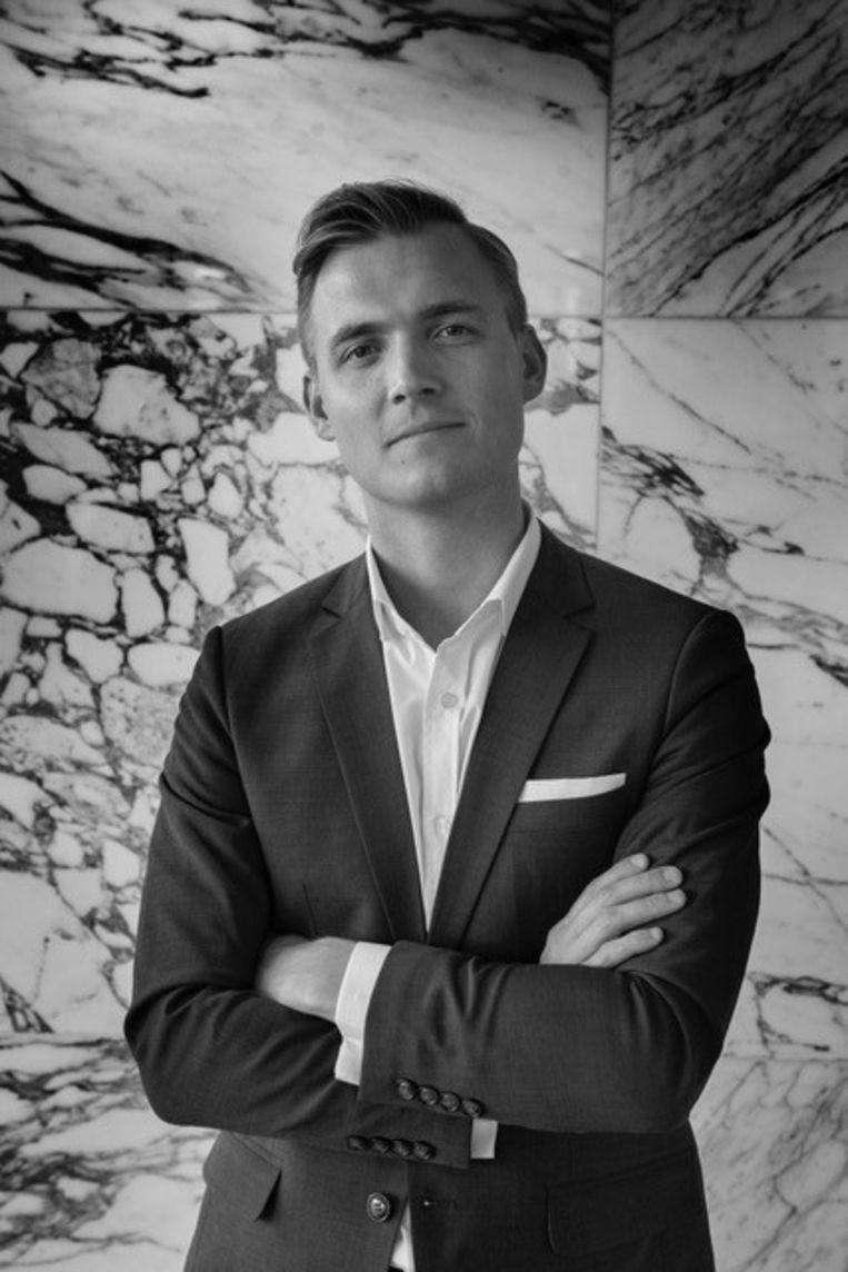 Jordi l'Homme, juridisch medewerker bij Dekens Pijnenburg Strafrechtadvocaten.  Beeld