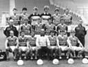 1983: de selectie van FC Utrecht met onder anderen Dick Advocaat, Jan Wouters en Rob de Wit. Bovenste rij vlnr: Ton de Kruyk, Jan van de Akker, Jan-Willem van Ede, Jan Stroomberg, Gerard van der Lem en Leo van Veen. Middelste rij vlnr.: Gerard van der Bildt (masseur/verzorger), Rob de Wit, Herman Verrips, Ton du Chatenier, Gerard Tervoort en H. Ockhuysen. Onderste rij v.l.n.r.: Dick Advocaat, Koos van Tamelen, Wim Flight, Barry Hughes (trainer), Gert Kruys, Jan Wouters en Frans Adelaar.